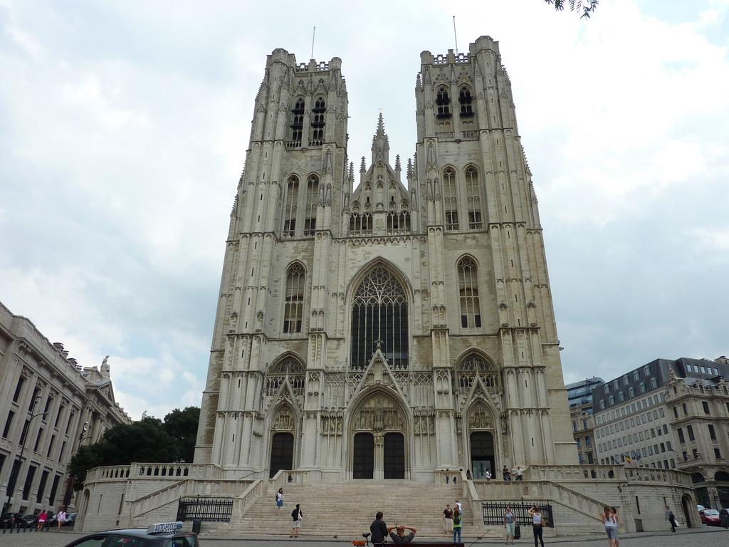 Catedral de St. Michaels e St. Gudula em Bruxelas - Bélgica